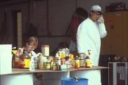 Pesticides at hazardous waste collection