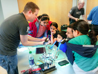 Family learning repair at Fix-It Clinic