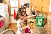 Minneapolis organics recycling family