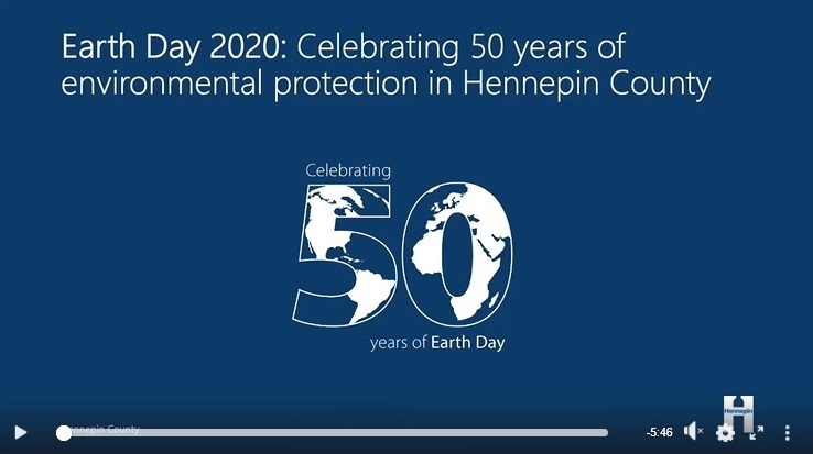 Screenshot of Earth Day history video