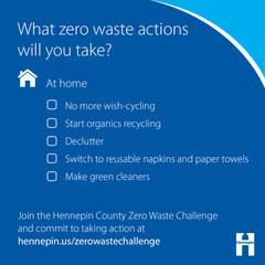 Zero waste actions you can take at home