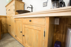 Space constructed with reused cabinets