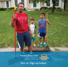 Sign up to adopt a drain graphic