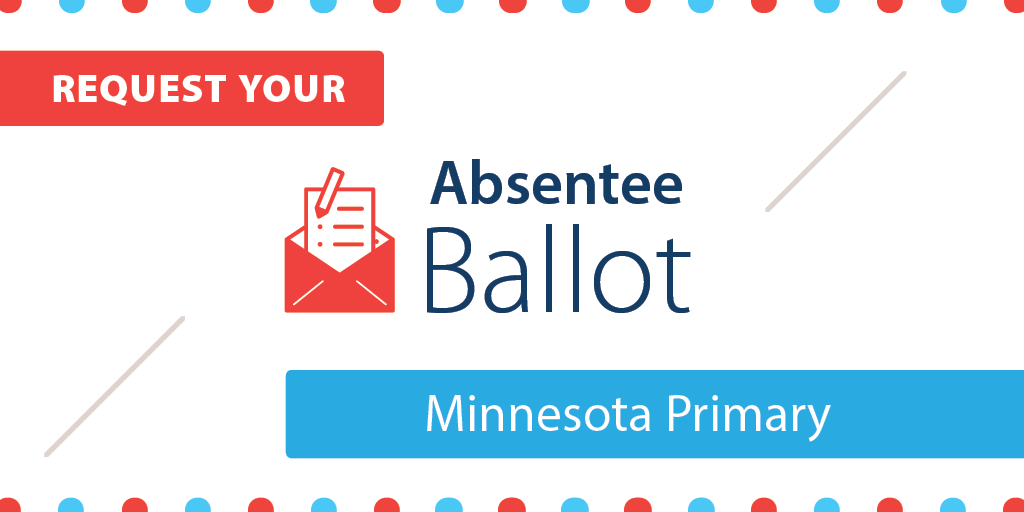 Request your absentee ballot for Minnesota primary