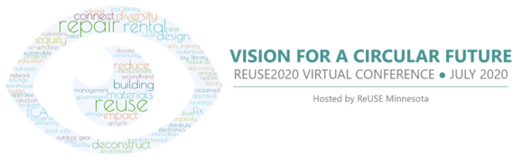 Logo for ReUSE MN 2020 virtual conference