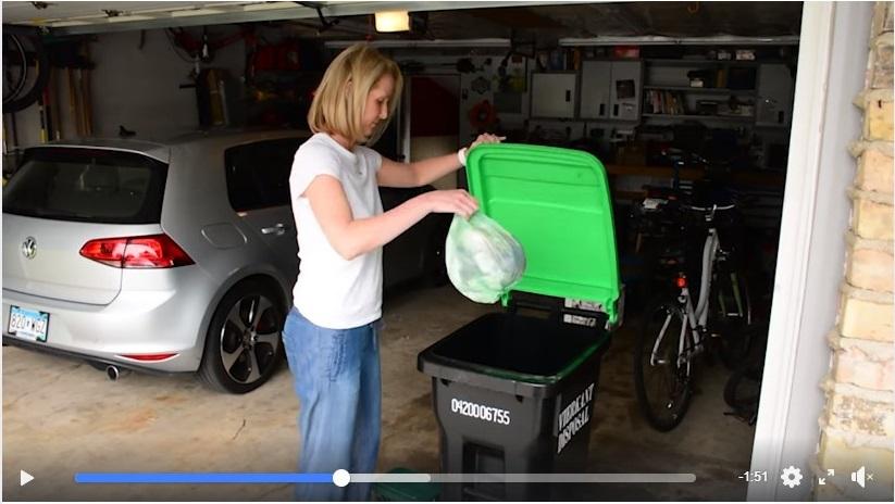 Screenshot of Edina organics recycling video