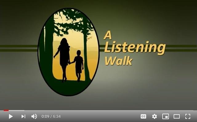 Screenshot of Listening Walk video