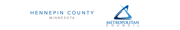 Met Council and Hennepin County logos