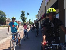 Youth learning to bike for transportation