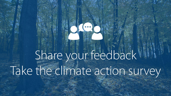 Take the climate action survey graphic