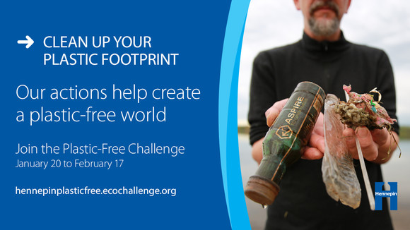 Join the Plastic-Free Challenge graphic - reduce your plastic footprint