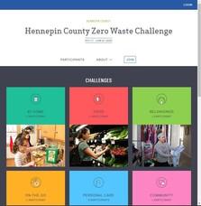 Screenshot of the online Zero Waste Challenge