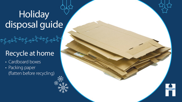 Recycle at home cardboard and packing paper