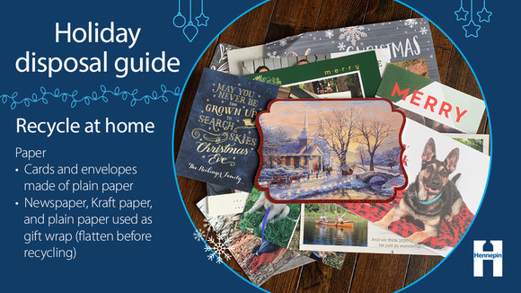 Recycle at home - plain cards, plain gift wrap