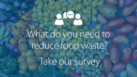 Take the food waste survey graphic