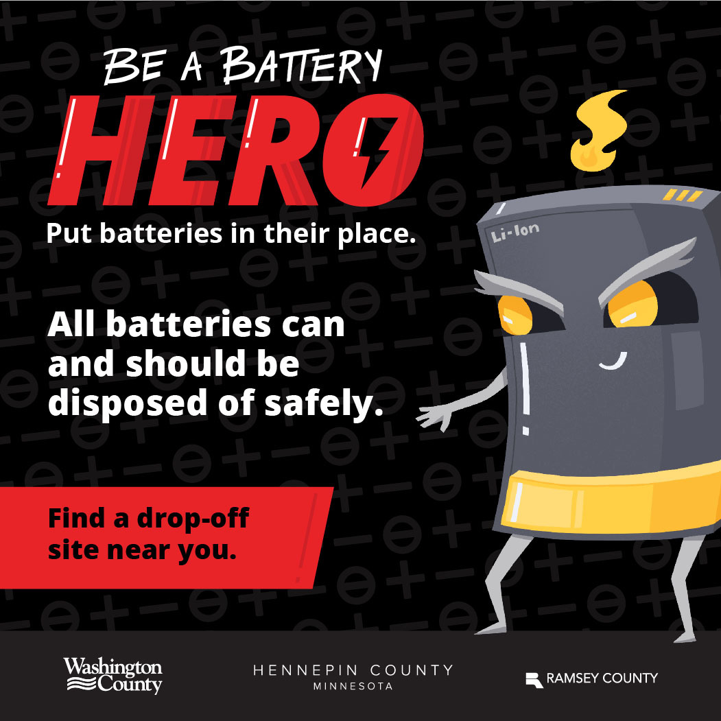 Be a battery hero graphic