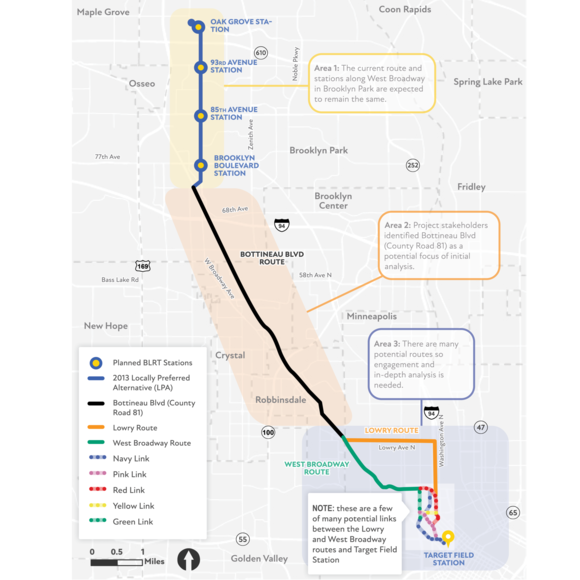 Map of Blue Line Extension Route