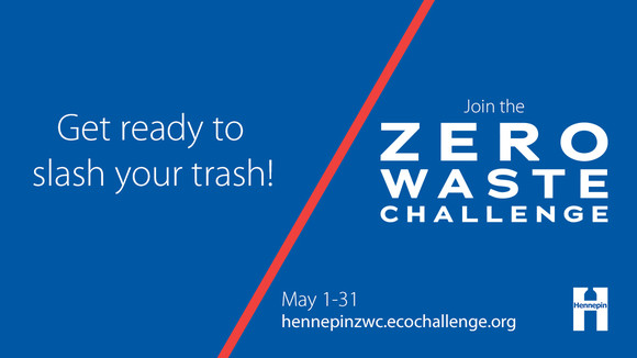Get ready to slash your trash join the Zero Waste Challenge graphic