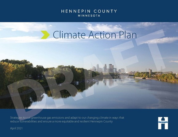 Hennepin County Climate Action Plan cover