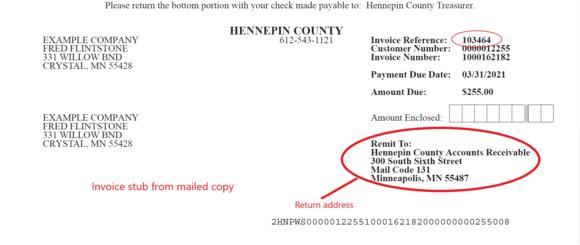 Invoice example 1
