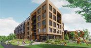 Shady Oak Affordable Housing Rendering