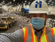 Selfie of Chris at Brooklyn Park Recycling Center