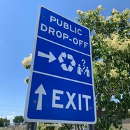 Sign at BP Recycling Center