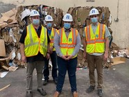 Group photo at BP REcycling center