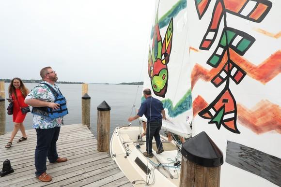 Chris and sailboats