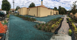 Landscaping and stormwater management changes at Masjid An-Nur mosque