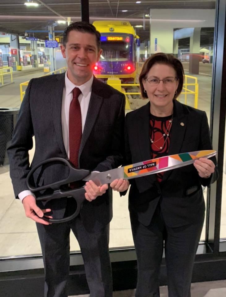 Mall of America Transit Station ribbon-cutting ceremony photo