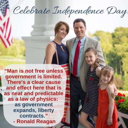 Rep. Munson and Family on Fourth of July