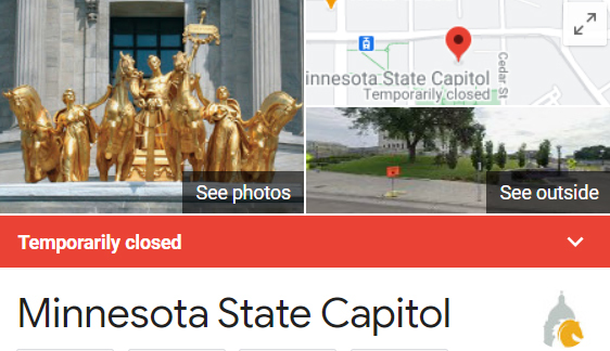 Capitol Area Closed Graphic
