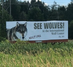International Wolf Center Billboard