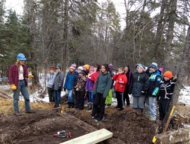 Students at Mountain Iron-Buhl School Forest