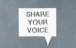 Share Your Voice Graphic
