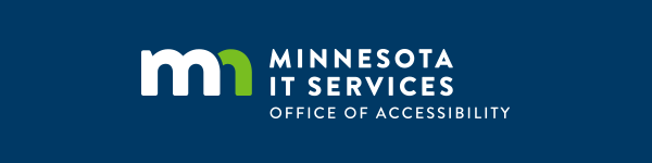 Minnesota I T Services Office of Accessibility logo