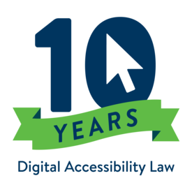 10 Years Digital Accessibility Law logo
