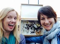 Bug Chicks pose with butterflies