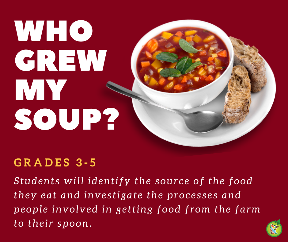 Who Grew My Soup? lesson
