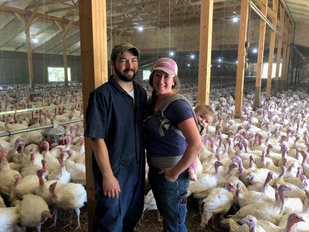 Swatzke family at Oakdale Turkey Farm