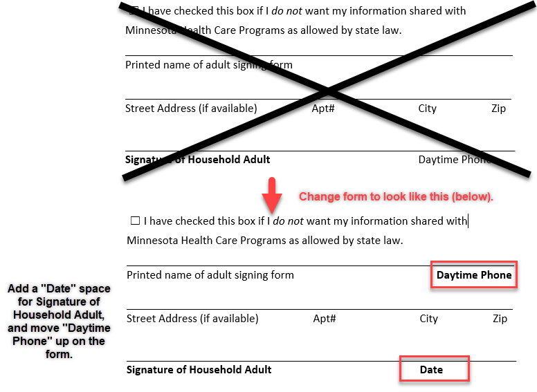 Visual Demonstration of Correction to 2019-20 Application for Educational Benefits