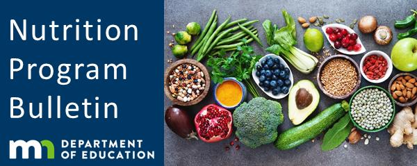 Nutrition Program Bulletin Banner - Healthy Food