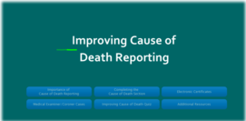 improving cause of death reporting screen shot