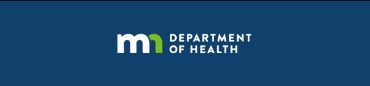 Blue Minnesota Department of Health Logo