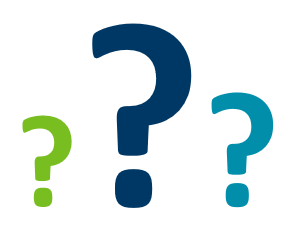 three question mark symbols