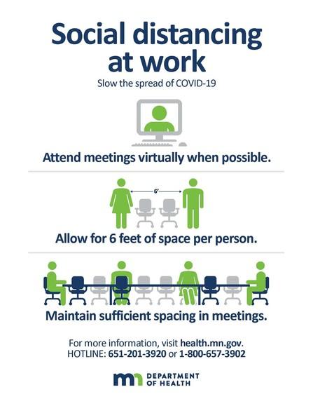 social distancing at work
