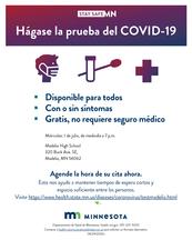 COVID-19 community testing flyer