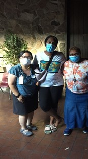 MDH employees at community testing event
