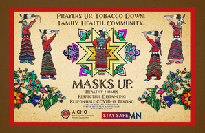 Masks up poster